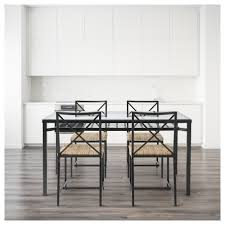 GRANÅS Table And  Chairs Blackglass IKEA - Dining room tables ikea
