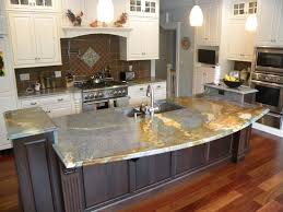 grey marble countertop with wastafel on dark brown laminated