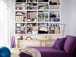 Family Room Cool Bookcases Ideas Furniture Interesting White Ikea Hemnes Bookcase With Three