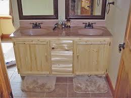 incredible small rustic bathroom vanities with cedar wood cabinets
