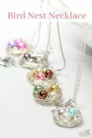 necklace pendant making images Beautiful diy bird nest necklace in under 30 minutes png