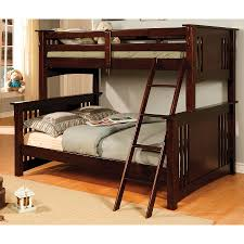 shop furniture of america spring creek dark walnut twin over full furniture of america spring creek dark walnut twin over full bunk bed