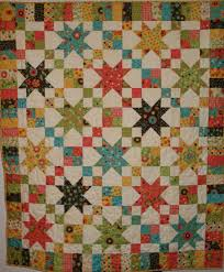 jelly roll quilts cindy made the star chain pattern from my book
