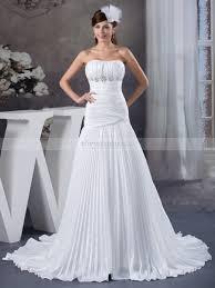 mermaid wedding elastic satin strapless mermaid wedding dress with pleating