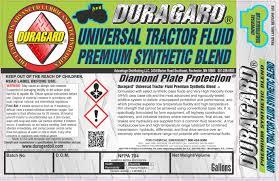 duragard diamond plate universal trans hydraulic tractor fluid