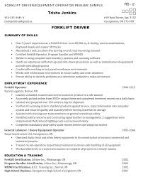 Sample Resume For Machine Operator by Forklift Operator Resume 7 Machine Operator Resume Sample