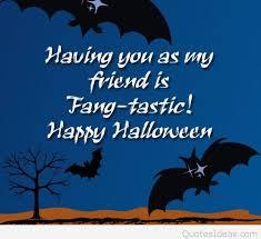 happy halloween cartoon quote my friends