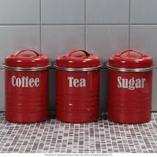 vintage style kitchen canisters tea coffee sugar kitchen canister set d canister sets tea