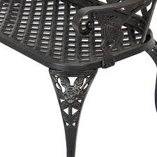 Solid Cast Aluminum Patio Furniture by Patio Garden Bench Cast Aluminum Outdoor Garden Yard Solid