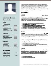 resumes with color 22 contemporary resume templates free download