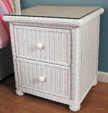 Chest Of Drawers With Wicker Drawers Wicker 2 Drawer Nightstand Elana