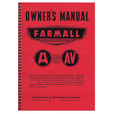 rep082 owners manual farmall a av