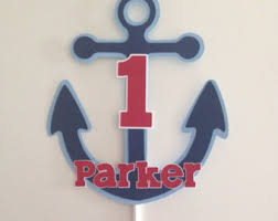 nautical cake toppers ahoy it s a boy nautical cake topper anchor cake topper