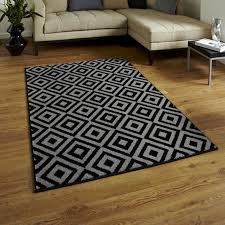 Modern Rugs Ltd Matrix Mt 89 Black Grey Modern Rug