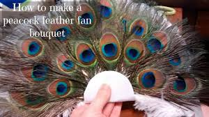 peacock feather fan to make a peacock feather fan bouquet