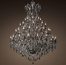 Iron Chandelier With Crystals Black Iron Crystal Round Chandelier