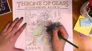 sneak peek at the throne of glass coloring book youtube