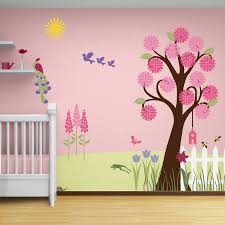 funky room decorating ideas baby room wall appliques baby