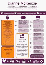 Librarian Resume Cv Formatted As An Infographic By Dianne Mckenzie Infographics