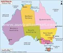 map of australia political political map