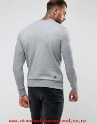 men u0027s puma archive logo crewneck sweatshirt in grey 57330603