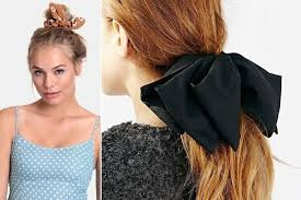 ribbon ponytail easy upgrade tie a ribbon around your ponytail