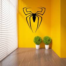 compare prices on spiderman stickers online shopping buy low spiderman superhero logo spider vinyl wall sticker home decor transfer wall decal pvc decoration diy mural