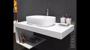 Wall Hung Vanity Unit With Basin Bernstein Wall Hung Vanity Unit For Countertop Basin White In