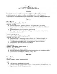 Resume Template For Administrative Position Resume Example Administrative Assistant Sample Administrative