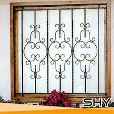 home windows grill design china supplier simple solid steel security iron window grill