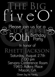 printable 50th birthday party invitations gallery invitation