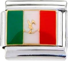 Italian And Mexican Flag Flags Enamel