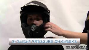 motocross helmet sizing how to fit a helmet gearhead com youtube