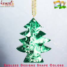 smoky tree shaped acrylic new christmas decorations flat ornaments