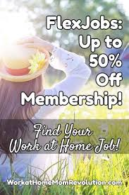 These Work From Home Companies Work At Home Flexjobs Half Price Membership Special