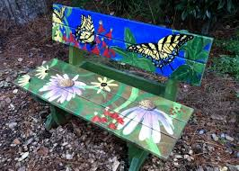 cool painted garden benches design home inspirations