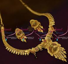 gold small necklace designs images Nl9725 thin design small size short necklace forming gold plated JPG