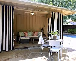 Curtains On Patio Black And White Vertical Striped Patio Curtains My Digital Home