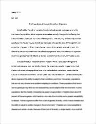 autobiography essay samples bio essay the importance of genetic diversity in organisms essay the importance of genetic diversity in organisms essay spring the importance of genetic diversity in organisms