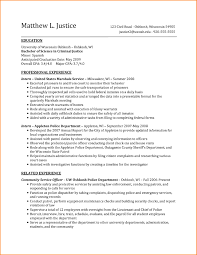 criminal justice resume objective examples chic puter science