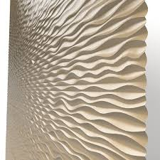 panel decorative 3d wave mdf modern laser perforated wall board