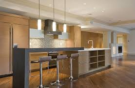 modern kitchen island with seating excellent kitchen with pendant lightings furnished with cupboards