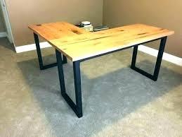 Wood L Shaped Desk Wooden L Shaped Desk Outstanding Vintage Industrial L Shaped Desk