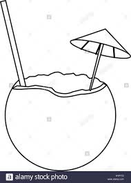 cocktail icon vector coconut cocktail drink icon stock vector art u0026 illustration