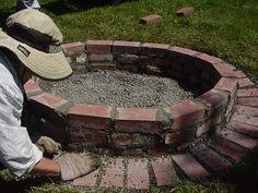 How To Make A Firepit Out Of Bricks The Diy Brick Pit Project Project Steps Bricks And Backyard