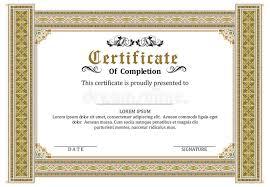 certificate frame certificate frame template vector award stock vector