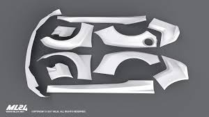 subaru brz black body kit ml24 2013 2016 subaru brz version 2 wide body kit automotive