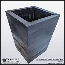 lightweight concrete planters tapered square planters unlimited