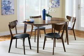 Coaster Dining Room Sets Coaster 105361 Malone 5 Piece Walnut Dining Set