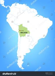 south america map bolivia vector map south america highlighting country stock within bolivia